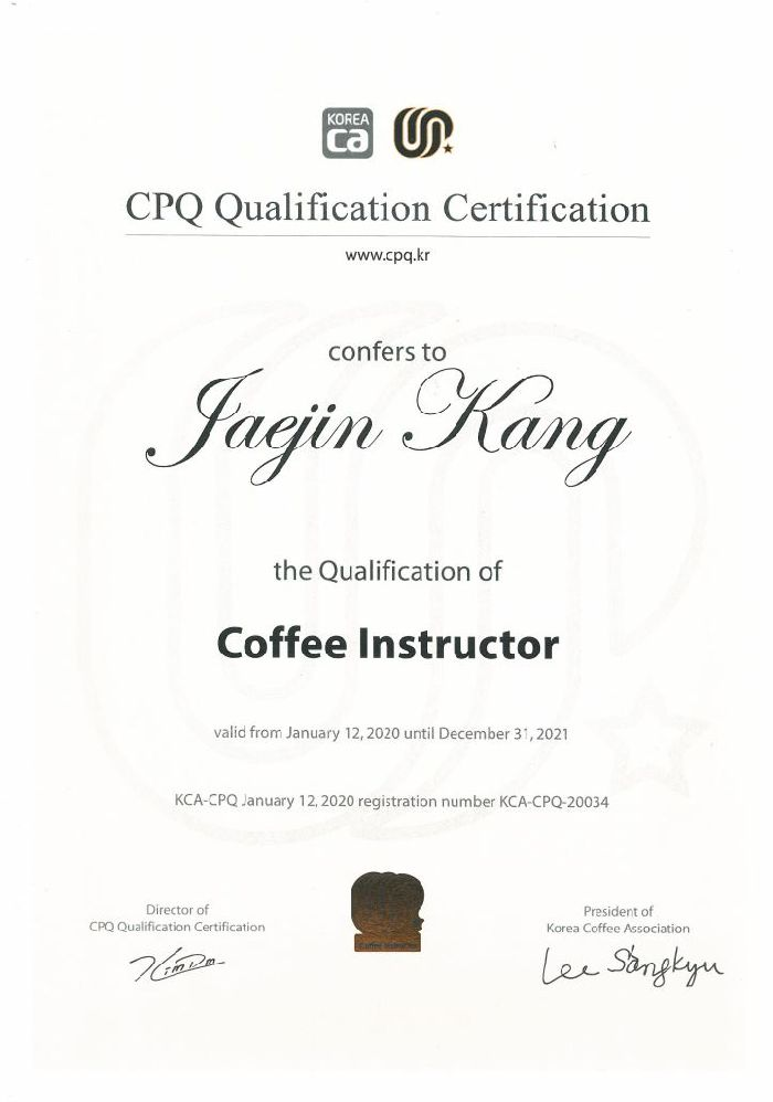 CPQ Coffee Instructor